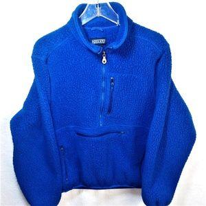 Pretty Blue Lands' End Polartec Fleece Pullover Sm